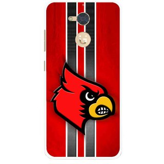 Snooky Printed Red Eagle Mobile Back Cover For Gionee S6 Pro - Multi