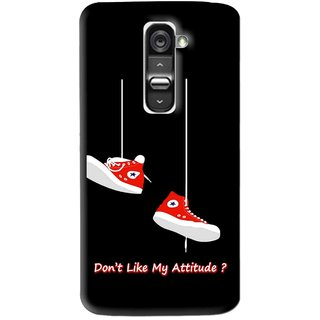 Snooky Printed Attitude Mobile Back Cover For Lg G2 - Multi