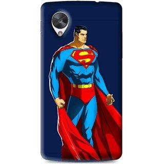 Snooky Printed Super Hero Mobile Back Cover For Lg Google Nexus 5 - Multi