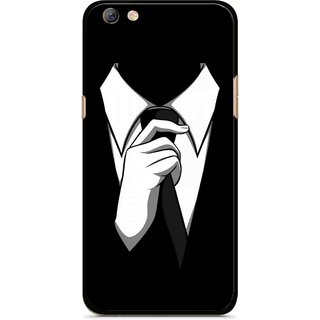 Snooky Printed White Collar Mobile Back Cover For Oppo F3 plus - Multi