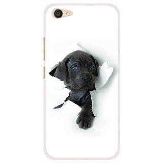 Snooky Printed Cute Dog Mobile Back Cover For Vivo V5 Plus - Multi
