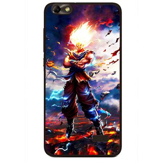 Snooky Printed In Anger Mobile Back Cover For Huawei Honor 4C - Multi