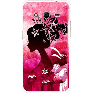 Snooky Printed Pink Lady Mobile Back Cover For Samsung Galaxy G355 - Multicolour