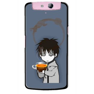 Snooky Printed Need Rest Mobile Back Cover For Oppo N1 Mini - Blue