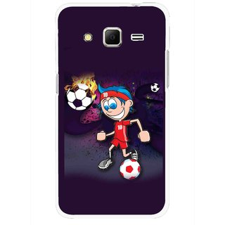 Snooky Printed My Game Mobile Back Cover For Samsung Galaxy Core Prime - Puple