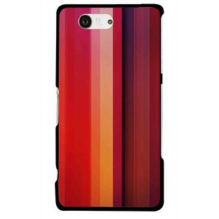 Snooky Printed Colorfull Stripes Mobile Back Cover For Sony Xperia Z3 Compact - Multicolour