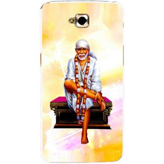 Snooky Printed Sai Baba Mobile Back Cover For Lg G Pro Lite - Yellow
