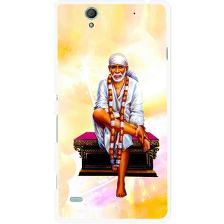 Snooky Printed Sai Baba Mobile Back Cover For Sony Xperia C4 - Yellow