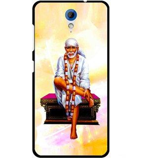 Snooky Printed Sai Baba Mobile Back Cover For HTC Desire 620 - Yellow