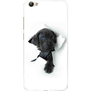 Snooky Printed Cute Dog Mobile Back Cover For Vivo Y55 - Multi