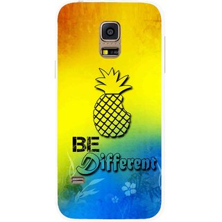 Snooky Printed Be Different Mobile Back Cover For Samsung Galaxy S5 Mini - Multicolour