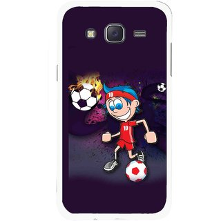 Snooky Printed My Game Mobile Back Cover For Samsung Galaxy J5 - Puple