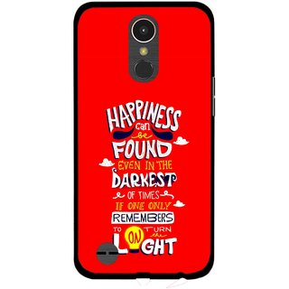 Snooky Printed Happiness Is Every Where Mobile Back Cover For LG K10 2017 - Multi