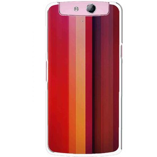 Snooky Printed Colorfull Stripes Mobile Back Cover For Oppo N1 Mini - Multicolour