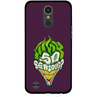 Snooky Printed Serious Mobile Back Cover For LG K10 2017 - Multi
