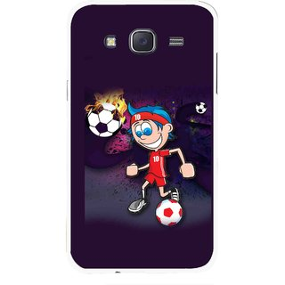 Snooky Printed My Game Mobile Back Cover For Samsung Galaxy J7 - Puple