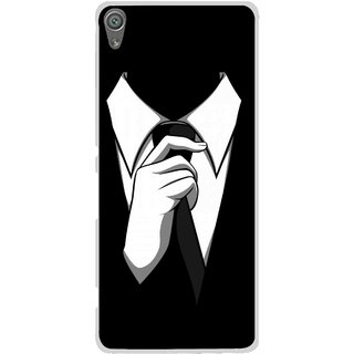 Snooky Printed White Collar Mobile Back Cover For Sony Xperia XA1 - Multi