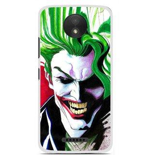 Snooky Printed Joker Mobile Back Cover For Motorola Moto C Plus - Multi