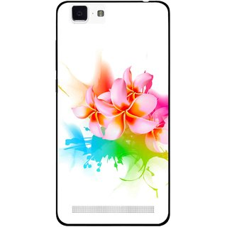 Snooky Printed Colorfull Flowers Mobile Back Cover For Vivo X5 Max - Multi