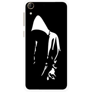 Snooky Printed Thinking Man Mobile Back Cover For HTC Desire 728 - Multi