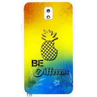 Snooky Printed Be Different Mobile Back Cover For Samsung Galaxy Note 3 - Multicolour