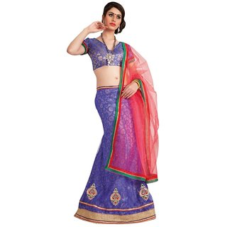 Triveni Superb Stone Worked Net Lehenga Choli TSXAH1084