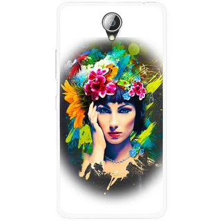 Snooky Printed Classy Girl Mobile Back Cover For Lenovo A5000 - White