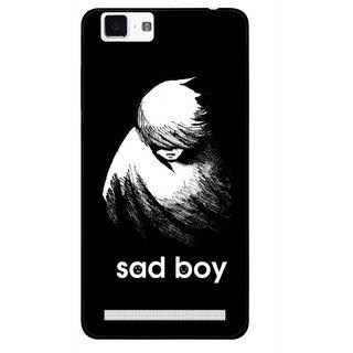 Snooky Printed Sad Boy Mobile Back Cover For Vivo X5 Max - Multi