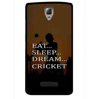 Snooky Printed All Is Cricket Mobile Back Cover For Lenovo A2010 - Multicolour