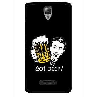 Snooky Printed Got Beer Mobile Back Cover For Lenovo A2010 - Multicolour