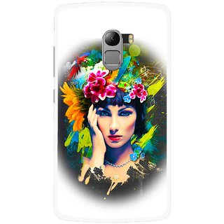 Snooky Printed Classy Girl Mobile Back Cover For Lenovo K4 Note - White