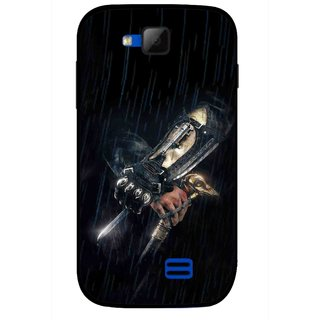 Snooky Printed The Thor Mobile Back Cover For Micromax Canvas Fun A63 - Black