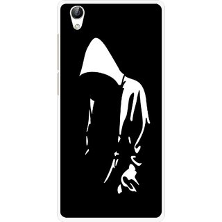 Snooky Printed Thinking Man Mobile Back Cover For Vivo Y51L - Multi