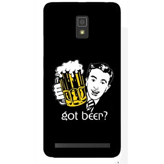 Snooky Printed Got Beer Mobile Back Cover For Lenovo A6600 - Multicolour