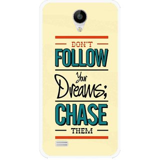 Snooky Printed Chase The Dreams Mobile Back Cover For Vivo Y22 - Yellow