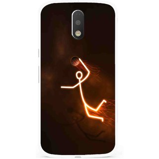 Snooky Printed Burning Man Mobile Back Cover For Moto G4 Plus - Multi