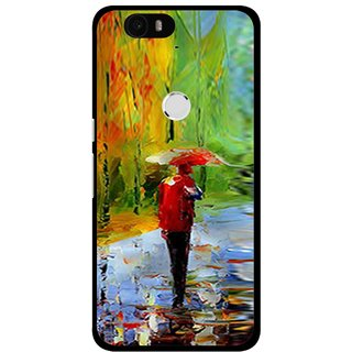 Snooky Printed Painting Mobile Back Cover For Huawei Nexus 6P - Multi