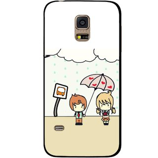 Snooky Printed Feelings in Love Mobile Back Cover For Samsung Galaxy S5 Mini - Multi