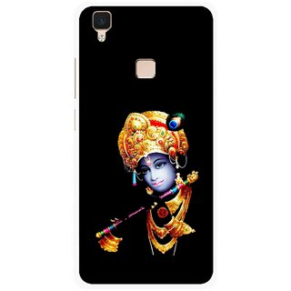 Snooky Printed God Krishna Mobile Back Cover For Vivo V3 - Multi
