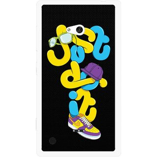 Snooky Printed Just Do it Mobile Back Cover For Nokia Lumia 720 - Multicolour