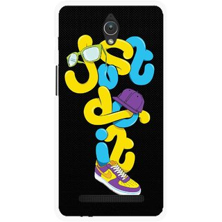 Snooky Printed Just Do it Mobile Back Cover For Asus Zenfone C - Multicolour