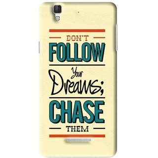 Snooky Printed Chase The Dreams Mobile Back Cover For Micromax YU YUREKA - Multi