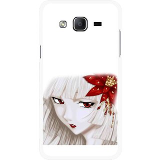 Snooky Printed Chinies Girl Mobile Back Cover For Samsung Galaxy On7 - Multicolour