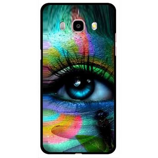 Snooky Printed Designer Eye Mobile Back Cover For Samsung Galaxy J5 (2016) - Multicolour