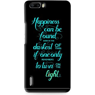 Snooky Printed Everywhere Happiness Mobile Back Cover For Huawei Honor 6 Plus - Multi