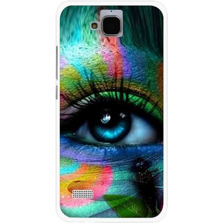 Snooky Printed Designer Eye Mobile Back Cover For Huawei Honor Holly - Multicolour