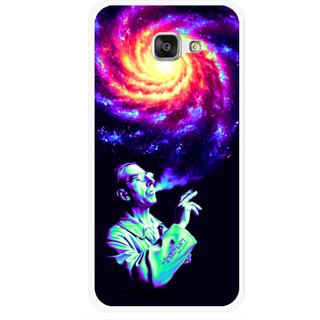 Snooky Printed Universe Mobile Back Cover For Samsung Galaxy A7 2016 - Multicolour