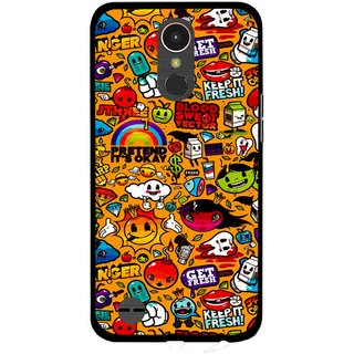 Snooky Printed Freaky Print Mobile Back Cover For LG K10 2017 - Multi