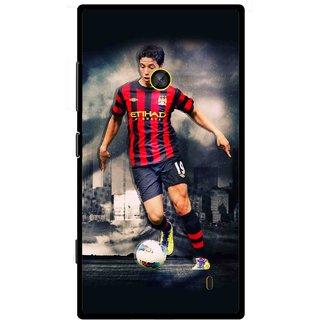 Snooky Printed Football Mania Mobile Back Cover For Nokia Lumia 520 - Multi