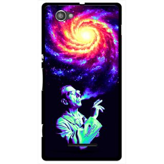 Snooky Printed Universe Mobile Back Cover For Sony Xperia M - Multicolour